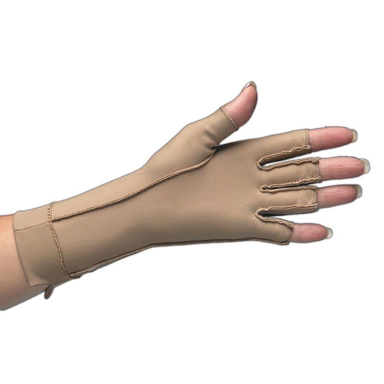 Isotoner Therapeutic Glove, Open Finger Compression Glove, 23-32 mmHg, Left, X-Small