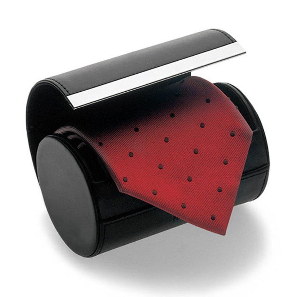 estuche de almacenamiento de viaje clips de almacenamiento para hombre//negro Estuche para corbata de hombre para almacenamiento de corbatas caja de regalo con forma de cilindro corbata cuello