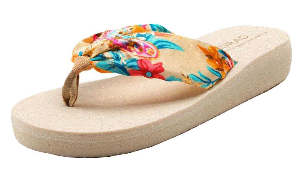 Zapatos florales de las muchachas para los flips-flopes de la piscina de la playa Black Temptation