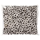 1000pcs #4 1/2 Grommet Machine Grommets & Washers Nickel Eyelets Banner Tool for Posters Tags Signs Bags by Yescom