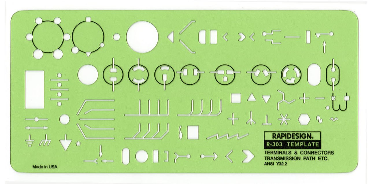 Rapidesign Electrical Electronics Symbol Templates Set 3 R300 Chartpak Inc