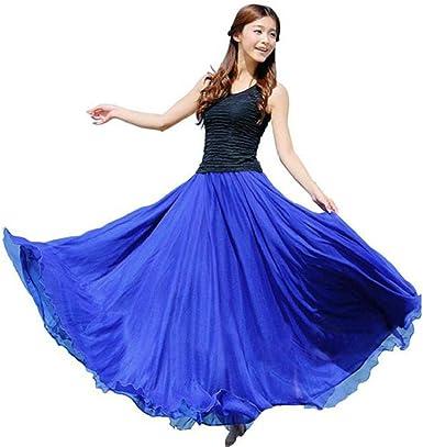CANDLLY Faldas de Fiesta Mujeres Elegante Faldas Lisas Falda de ...