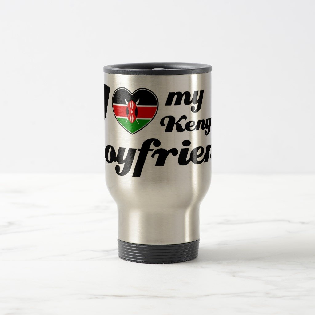 Zazzle I Love My Kenyanボーイフレンドコーヒーマグ 15 oz, Travel/Commuter Mug c29c5176-c98d-a32f-f5f9-c6c0f2c3046c B078FBNK6X  ステンレススチール 15 oz, Travel/Commuter Mug