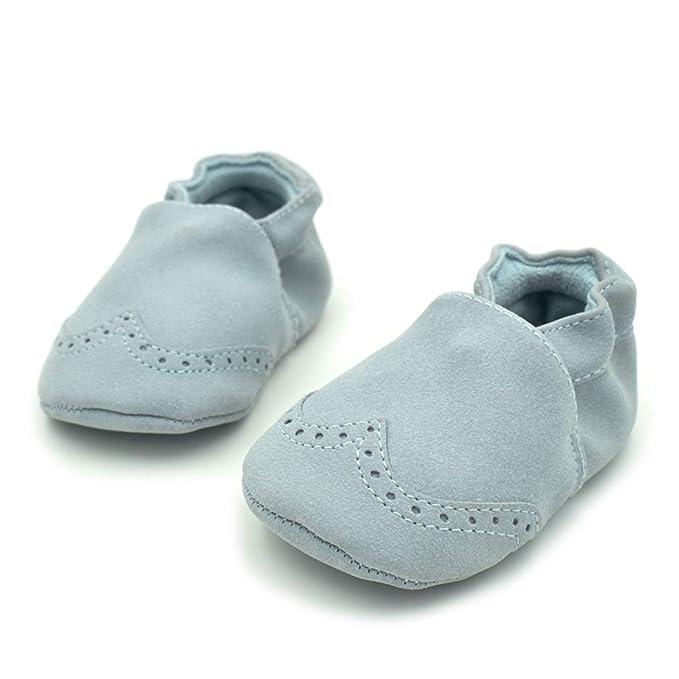 Puseky Zapatos de bebé otoñales de Interior cálido niño Nubuck Zapatos de Cuero Infantil niña niño Suela Suave Antideslizante Zapatos Mocasines de bebé ...