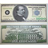 Set of 10 Bills-One Thousand Dollar Bill-Novelty Money