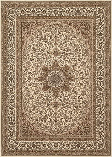 Traditional Oriental Cream Medallion Design 7 10 X 10 2 Area Rug Runner