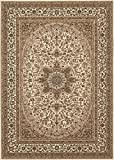 Traditional Oriental Cream Medallion Design 5'3″ X 7'3″ Area Rug For Sale