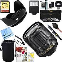 Nikon 18-105mm f/3.5-5.6G ED AF-S VR DX Zoom-Nikkor Lens + 64GB Ultimate Filter & Flash Photography Bundle