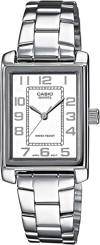 Casio Reloj Analógico para Mujer de Cuarzo con Correa en Acero Inoxidable LTP-1234PD-7BEF