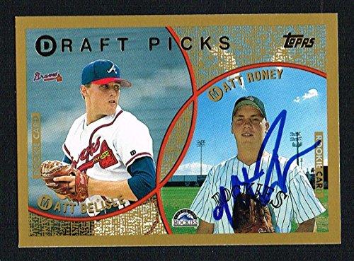 - Matt Roney #438 signed autograph auto 1999 Topps Baseball Trading Card