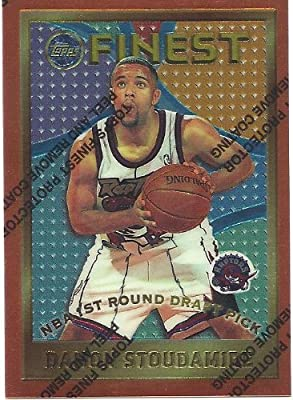 169442f01 Damon Stoudamire 1995-96 Topps Finest Rookie Card  117 Toronto Raptors