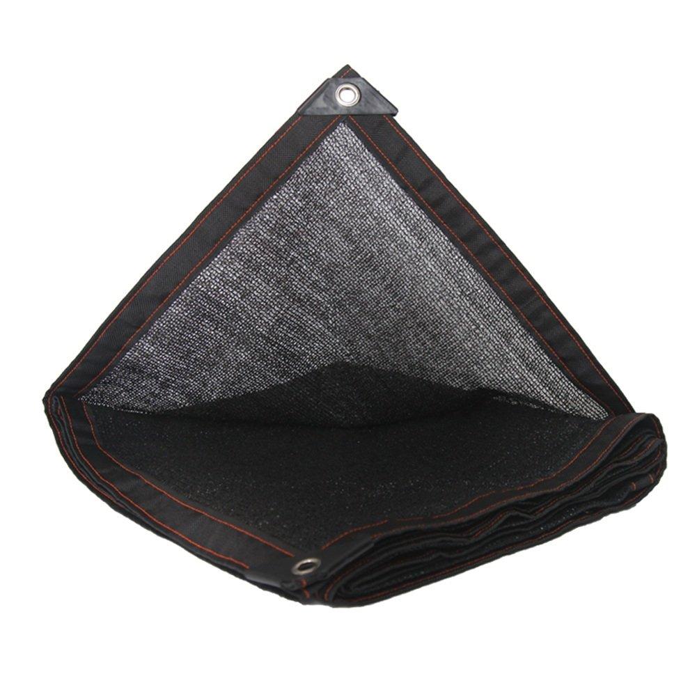 PENGFEI シェーディングネット ターポリン 暗号化 植物ガーデニング 日焼け止め パティオ 断熱 カーポート 防塵、 複数のサイズ (色 : Black, サイズ さいず : 5x6m) 5x6m Black B07FMKY2YK