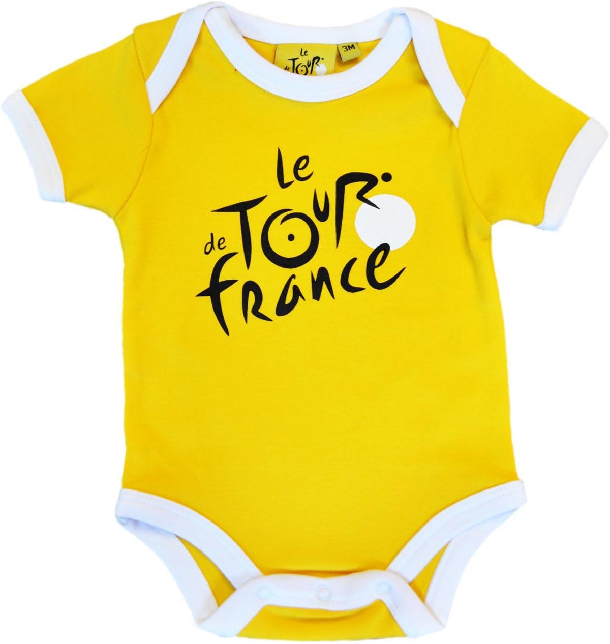 Body bebé Le Tour de France de ciclismo – Collection officielle – Talla bebé niño, color amarillo, tamaño 3 meses: Amazon.es: Deportes y aire libre