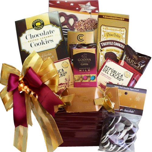 Art of Appreciation Gift Baskets Hooked On Chocolate Truffles and Treats Gift Basket