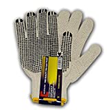 ''CONSTRUCTOR'' PVC Dotted Knitted Gloves / CASE 300 PAIRS /