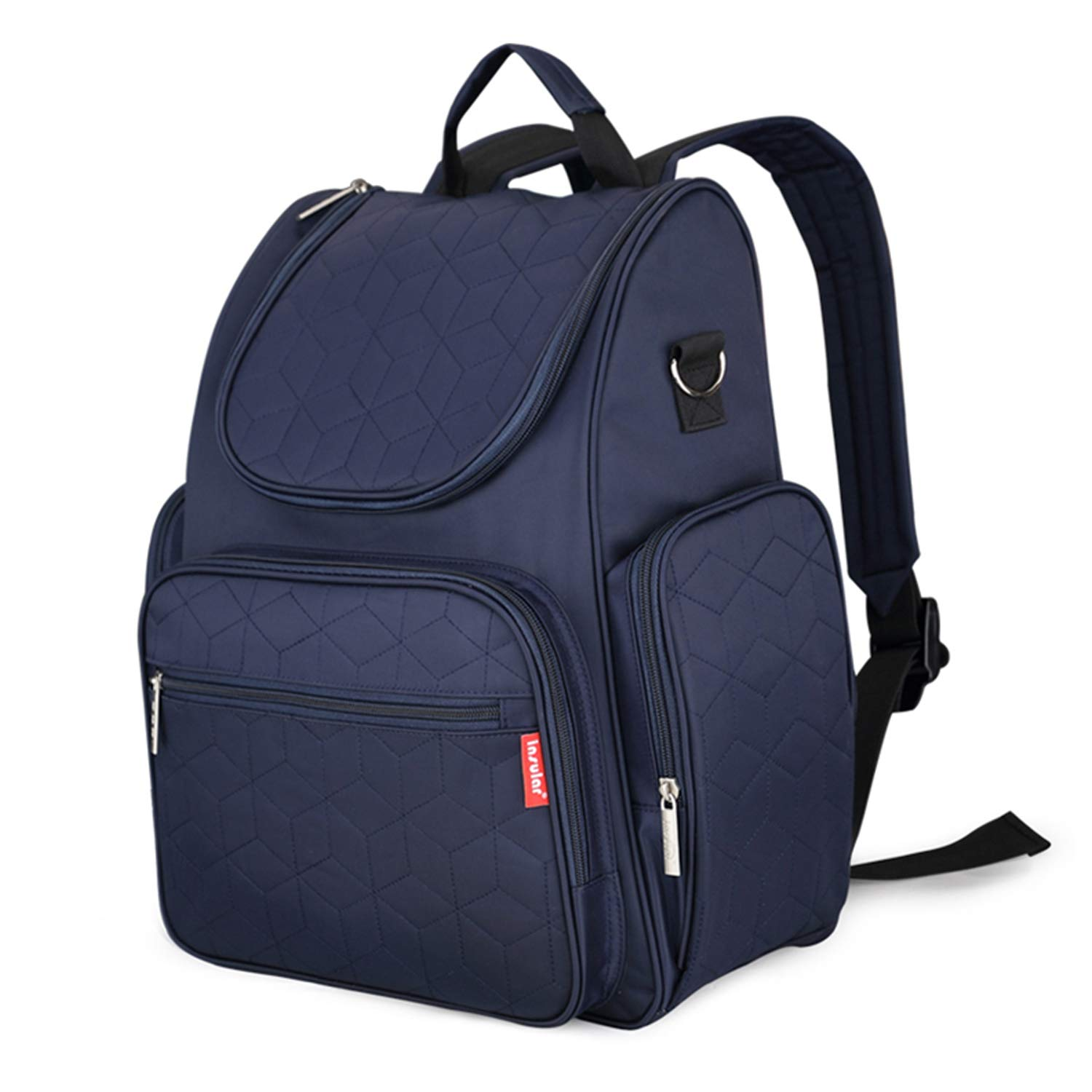 Diaper Bag Backpack with Stroller Straps, Changing Pad and Insulated Pockets - (Blue)