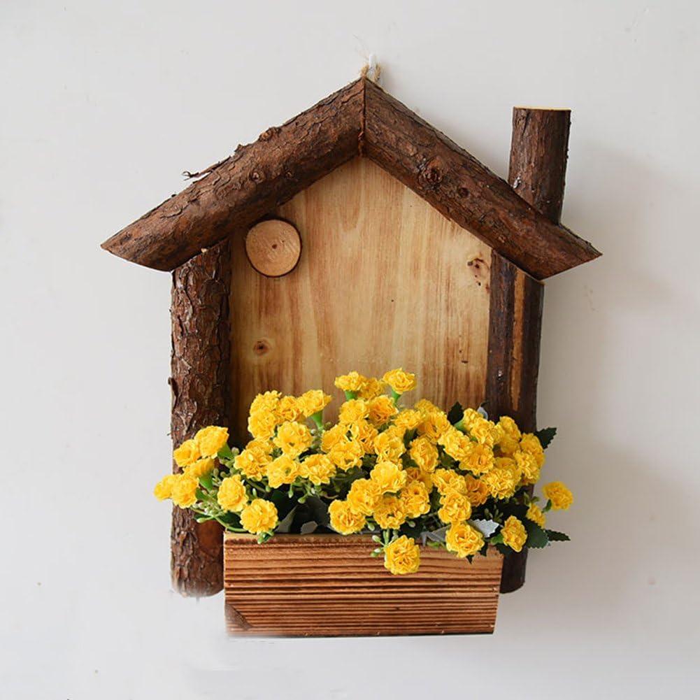 yournelo Pergola de pared de madera Creative flores maceta ...