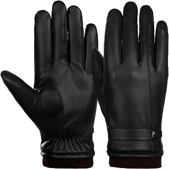 VBIGER Guantes de invierno con pantalla táctil, guantes gruesos para deportes y ciclismo para hombres
