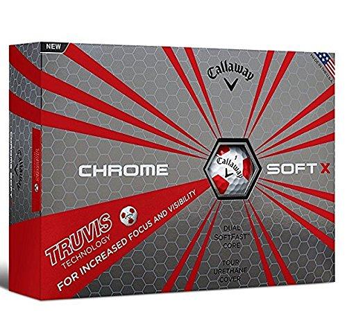 Callaway Chrome Soft X (One Dozen) White/Red Truvis Pattern