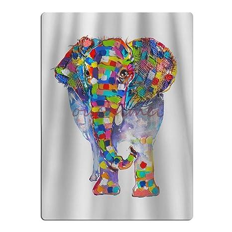 Colorido elefante colores brillantes para playa No Color a la decoloración 25,6 x 19