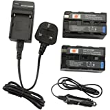 DSTE® 2x NP-F750 Rechargeable Li-ion Battery + DC01U Travel and Car Charger Adapter for Sony CCD-SC5 CCD-TRV80PK DCR-TRV820 CCD-SC55 CCD-TRV81 DCR-TRV820K CCD-SC65 CCD-TRV815 DCR-TRV9 CCD-TR3 CCD-TRV82 DCR-TRV900 CCD-TR3000 CCD-TRV85 DCR-VX200 CCD-TR3300 CCD-TRV86PK DCR-VX2100 CCD-TR516 CCD-TRV87 DCR-VX2100E CCD-TR555 CCD-TRV88 DCR-VX700 CCD-TR67 CCD-TRV90 DSC-D700 CCD-TR716 CCD-TRV91 DSR-PD170 CCD-TR76 CCD-TRV93 HDR-FX1 CCD-TR818 CCD-TRV95 HVR-Z1U as NP-F770 NP-F730 NP-F330 NP-F530 NP-F550 NP-F570