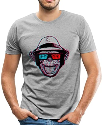 7649e2d8c3b2a9 Spreadshirt Hipster Chimp Chimpmaster Men's Premium T-Shirt, S, heather gray