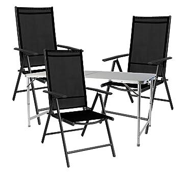 Mojawo® Salon de Camping 4 pièces Table Pliante de Camping ...