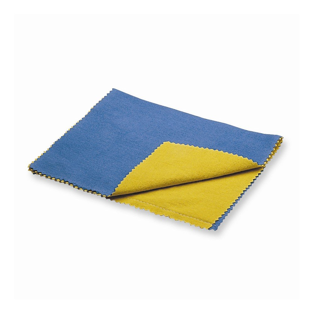 Large Brilliant Blue/Yellow Double Polishing Cloth by viStar (Image #1)