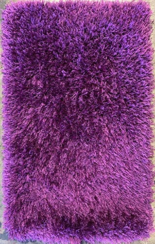 Rose Delux Purple Door Mat Thick Shag 2 Feet X 3 Feet 4 Inch