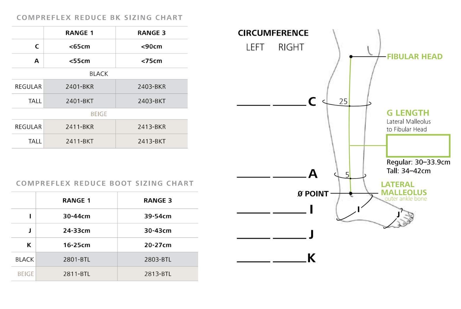 Sigvaris Compreflex Reduce Below Knee Tall Beige Range 3 Tall 2413-BKT