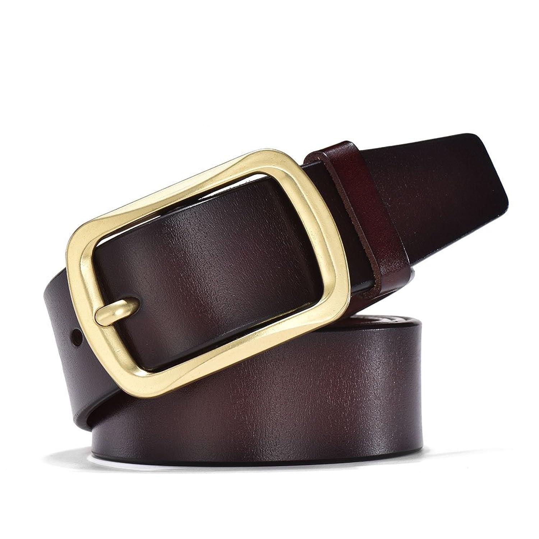 8519b8b6677 Outlet Wellcce Cinturones de hombre 100% Cuero Cinturones de Piel Cinturón  jeans Cinturón de hebilla