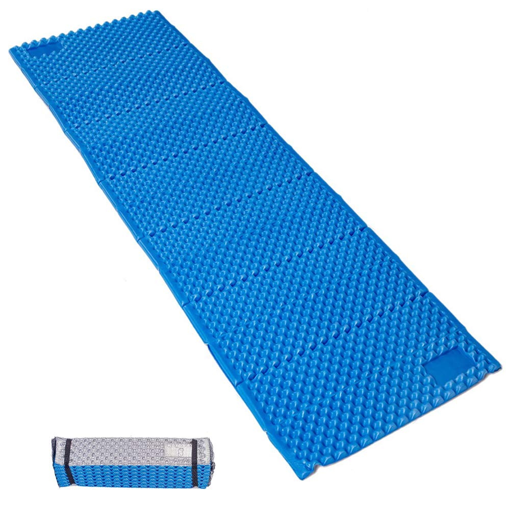 GEERTOP Camp Pad - Portable Lightweight Folding Foam Mat Mattress Cushion for Outdoor Hiking Camping Backpacking (Blue, Regular) by GEERTOP