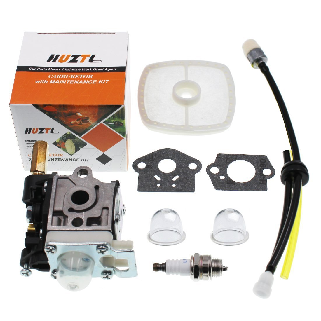 HUZTL Carburetor for Echo GT200 GT201i HC150 HC151 PE200 PE201 PPF210 PPF211 SRM210 SRM211 Trimmer Brushcutter with Fuel Maintenance Kit Spark Plug by HUZTL