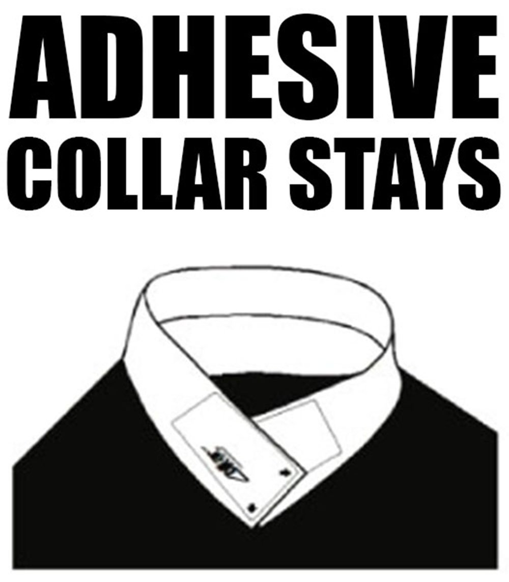 TAVERNIT 30 Pairs of ADHESIVE COLLAR STAYS No Curl Polo Shirts Collar Styx Sticks