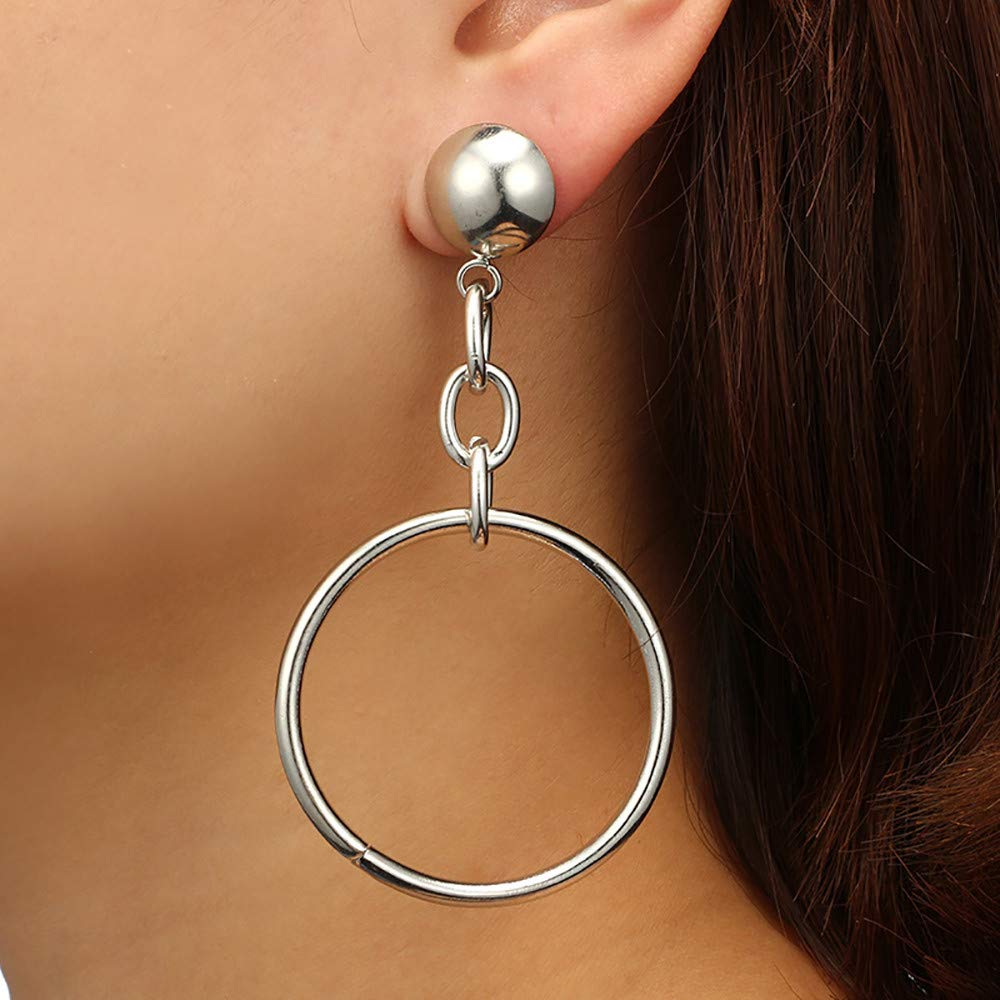 Earrings for Women Fashion Wugeshangmao Girls Elegant Retro Personality Exaggerated Hollow Circle Earrings for Party,Gift,Dating Club Occasion Earings