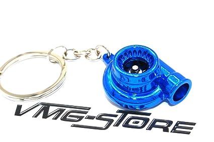 Turbo Azul Cromo llavero con aumentador giratoria Rueda - de ...