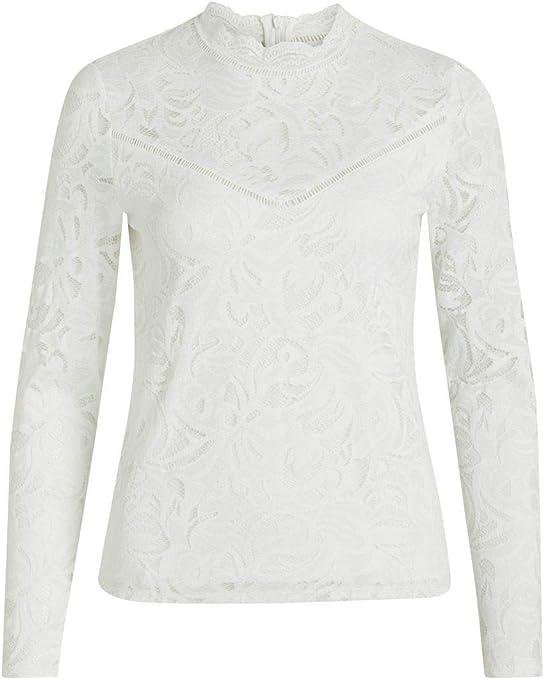 TALLA XS. Vila Vistasia L/S Lace Top-Noos Camisa Manga Larga para Mujer