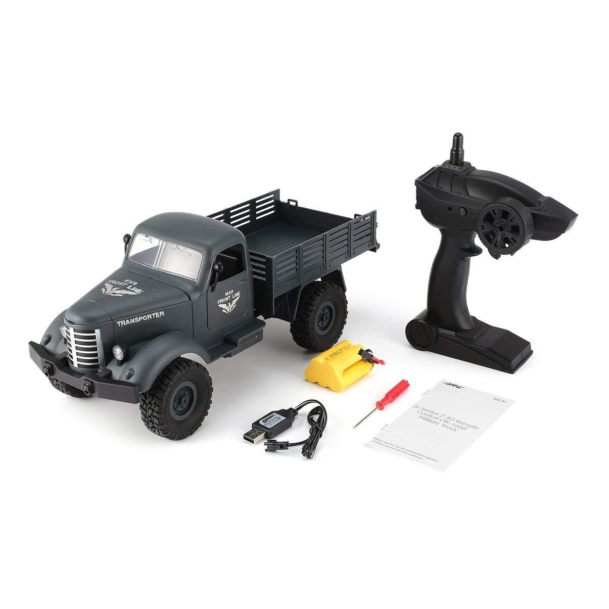 JullyeleESgant JJR / C Q61 1/16 2.4G 4WD RC Todoterreno Camión Militar Transportador RC Coche Vehículo de Control Remoto para Regalo de Los Niños Juguete de Los Niños