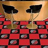 Fanmats Sports Team Logo Portland Trail Blazers Carpet Tiles 18''x18'' tiles