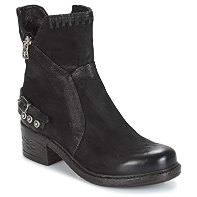 the best attitude a18ee 50b4f Airstep / A.S.98 NOVA 17 Ankle Boots/Boots Women Black Mid ...