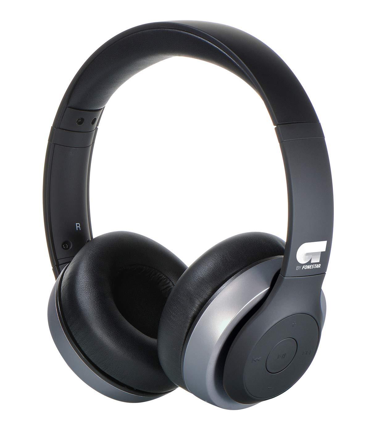 OT by FONESTAR Harmony Morado Auriculares INALÁMBRICOS Bluetooth con MICRÓFONO Integrado Y CONEXIÓN AUX: Amazon.es: Electrónica