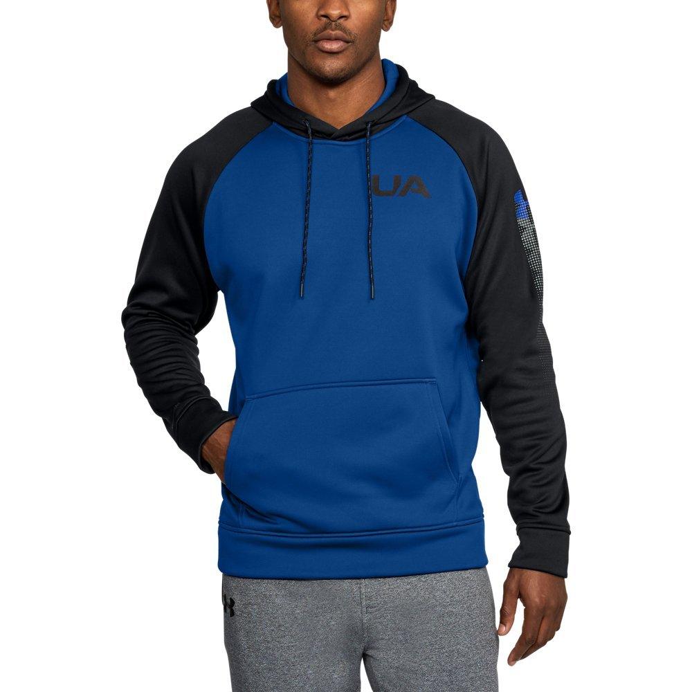 Under Armour Men's Fleece Color Block Hoodie, Royal/Black, XX-Large