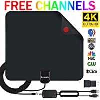 $27 Get 2019 Upgraded】 HDTV Antenna Indoor Digital TV Antenna, 120 Miles Range HD Antenna with…