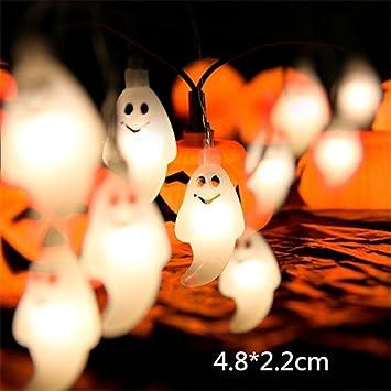 Amazon Com 10 Led 1 8m Halloween Decor Pumpkins Ghost Spider Skull