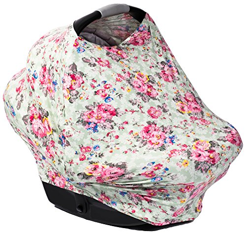 PoshPeanut Premium Baby Car Seat Covers - Multi Use Nursing and Breastfeeding Canopy, Cover Scarf - Great for Stroller, High Chair, Scarf, and Shopping Cart
