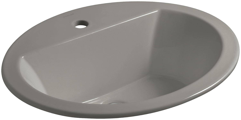 Kohler Bryant Oval self-rimming洗面所with single-hole蛇口ドリル K-2699-1-K4 1 カシミヤ カシミヤ B00O0PVPS2