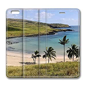Anakena Beach Anakena Easter Island Chile iPhone 6 Plus 5.5inch Leather Case, Personalized Protective Slim Fit Skin Cover For Iphone 6 Plus [Stand Feature] Flip Case Cover for New iPhone 6 Plus hjbrhga1544