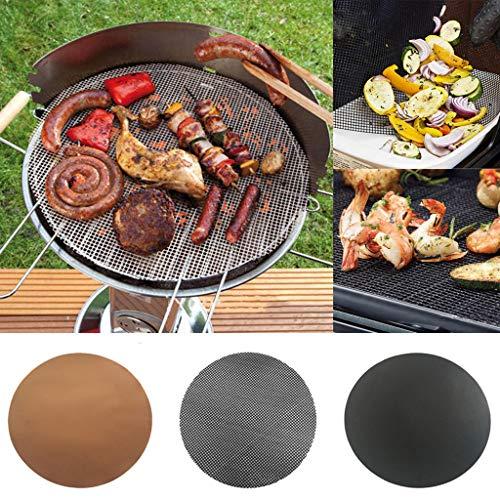 LiboboBBQ Grill Mat Mat Nonstick Pad Fiberglass Grill Pad Grill Foil Tool 40cm (B)