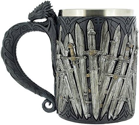 Pacific Giftware Legends of The Swords Game of Sword Thrones Dragon Mug Tankard 13oz 4
