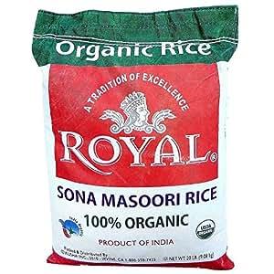 Amazon.com : Royal Sona Masoori Organic Rice - 20lb